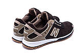 Мужские кожаные кроссовки NB Clasic Brown (реплика), фото 6