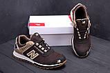 Мужские кожаные кроссовки NB Clasic Brown (реплика), фото 10