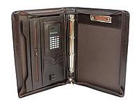 Папка деловая с калькулятором из эко кожи JPB, AK-11N коричневая, фото 1