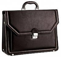 Большой деловой портфель из кожзаменителя AMO SST01 коричневый, фото 1