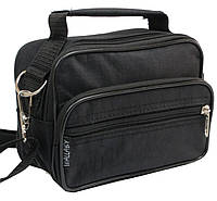 Мужская сумка-барсетка из нейлона Wallaby 2663 черная, фото 1