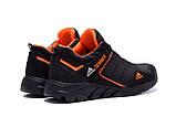 Мужские кожаные кроссовки Adidas Terrex  Orange (реплика), фото 6