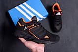 Мужские кожаные кроссовки Adidas Terrex  Orange (реплика), фото 8