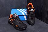 Мужские кожаные кроссовки Adidas Terrex  Orange (реплика), фото 9