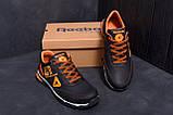 Мужские кожаные кроссовки Reebok Tech Flex Brown (реплика), фото 7