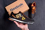 Мужские кожаные кроссовки Reebok Tech Flex Brown (реплика), фото 8