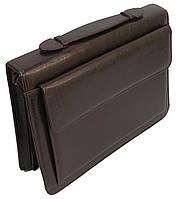 Папка-портфель JPB Польша AK-19 brown искусственная кожа, фото 1