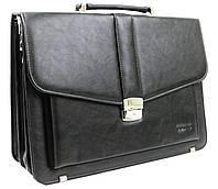 Мужской портфель из эко кожи Verto A13A1 черный, фото 1