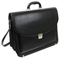 Большой мужской портфель из эко кожи Arwena 7614 черный, фото 1