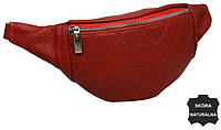 Женская сумка на пояс из кожи  Always Wild KS05D red, красная, фото 1