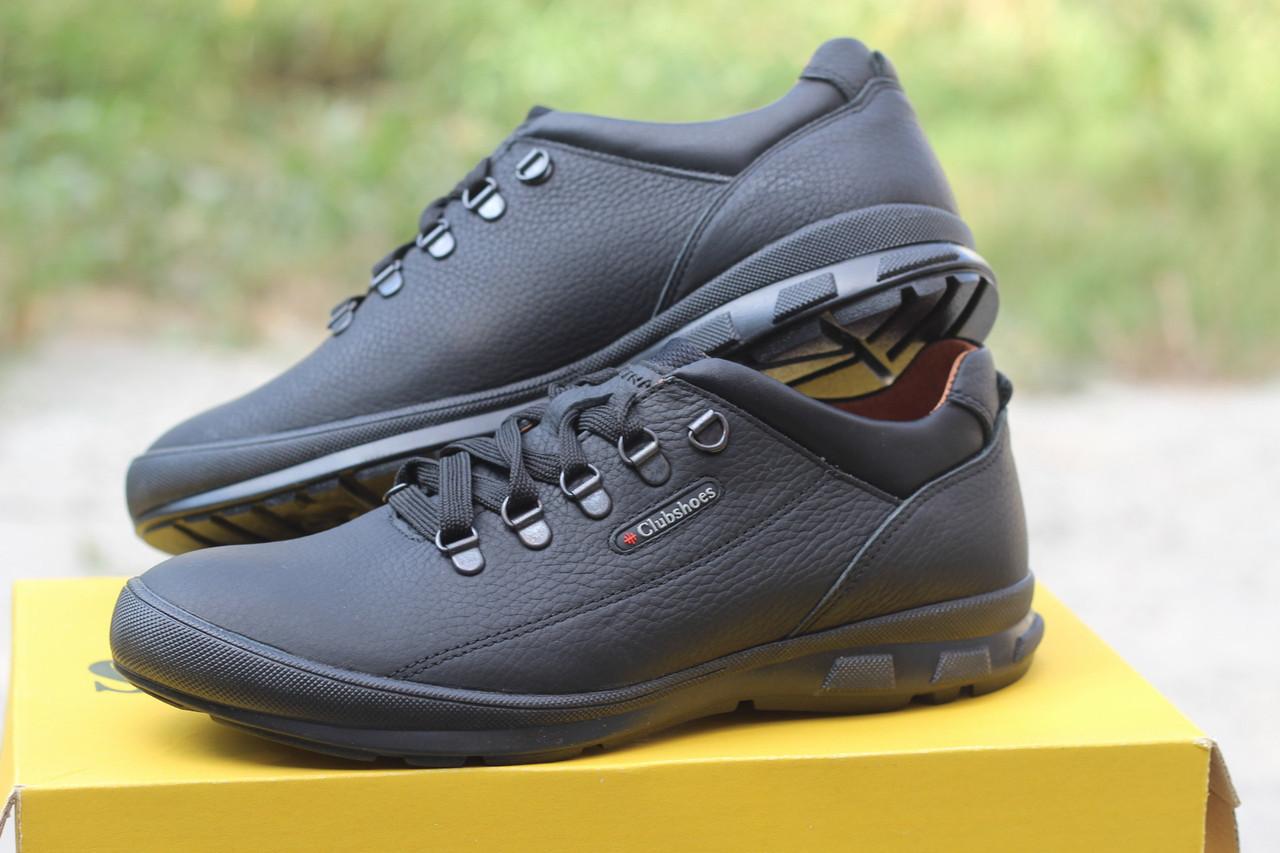Мужские  кроссовки  Clubshoes коламбия кожаные   черные