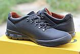 Мужские  кроссовки  Clubshoes коламбия кожаные   черные, фото 2