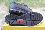 Мужские  кроссовки  Clubshoes коламбия кожаные   черные, фото 3