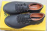 Мужские  кроссовки  Clubshoes коламбия кожаные   черные, фото 4