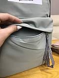 Рюкзак портфель женский оливковый (есть другие цвета), фото 5