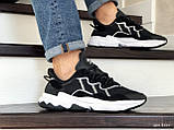 Мужские кроссовки Adidas Ozweego TR черно белые, фото 2