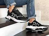 Мужские кроссовки Adidas Ozweego TR черно белые, фото 3