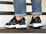 Мужские кроссовки Adidas Ozweego TR черно белые, фото 4