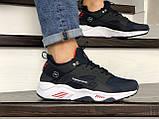 Мужские кроссовки Nike Huarache Fragment Design темно синие с белым, фото 4