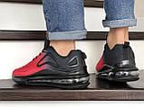 Мужские кроссовки Nike Air Max 720 черные с красным, фото 4