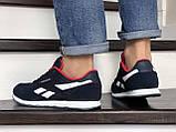 Мужские кроссовки Reebok Classic темно синие с белым \ красные, фото 4
