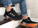 Мужские кроссовки Adidas Marathon TR черные с оранжевым, фото 2
