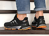 Мужские кроссовки Adidas Marathon TR черные с оранжевым, фото 3