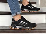 Мужские кроссовки Adidas Marathon TR черные с оранжевым, фото 5
