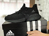 Мужские кроссовки Adidas черные, фото 2