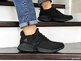 Мужские кроссовки Adidas черные, фото 4