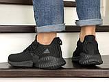 Мужские кроссовки Adidas черные, фото 5