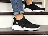 Мужские кроссовки Adidas черные с белым, фото 3