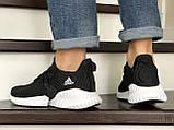 Мужские кроссовки Adidas черные с белым, фото 4