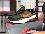 Мужские кроссовки Nike Air Max 270 React темно зеленые, фото 2