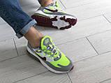 Мужские кроссовки Nike Air Max 270 React серые с салатовым, фото 4