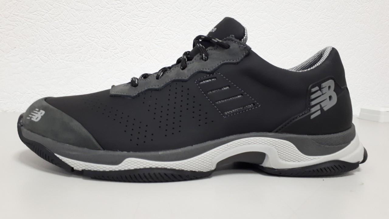 Мужские кожаные Кроссовки New Balance черные   44. 45