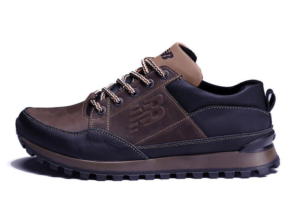 Мужские кожаные Кроссовки New Balance коричневые 41.42.43.45