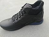 Мужские кожаные зимние ботинки черные Большого размера Big Boss 46 47 48 49 50, фото 3