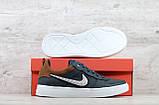 Мужские кожаные кеды Nike (Реплика) (Код: Крипс с/р  ) ►Размеры [40,41,42,43,44,45], фото 2