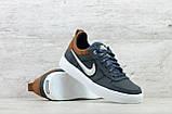 Мужские кожаные кеды Nike (Реплика) (Код: Крипс с/р  ) ►Размеры [40,41,42,43,44,45], фото 3