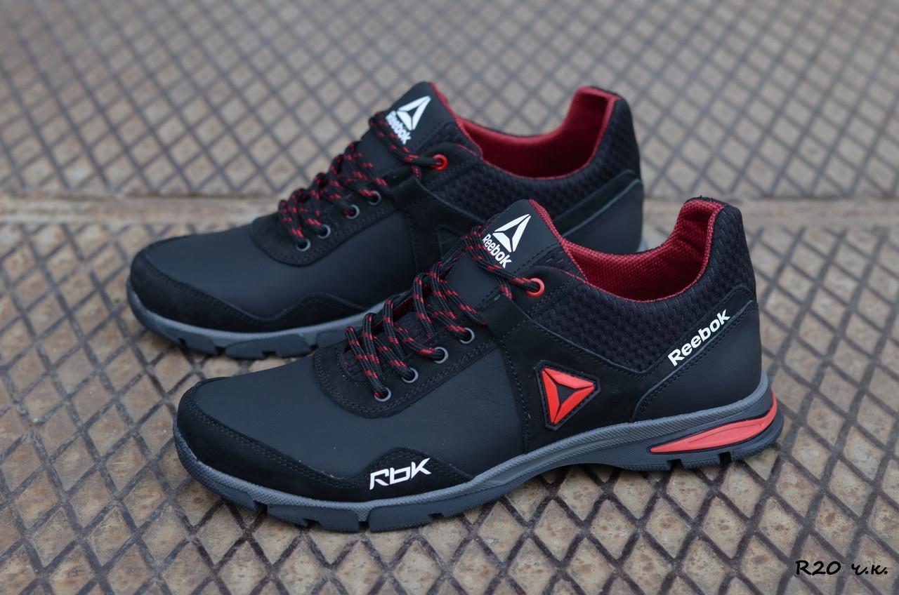 Мужские кожаные кроссовки Reebok (Реплика) (Код: R20 ч.к.  ) ►Размеры [40,41,42,43,44,45]