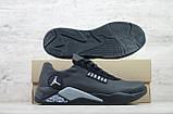 Мужские кожаные кроссовки Jordan (Реплика) (Код: JD чер  ) ►Размеры [40,41,42,43,44,45], фото 4