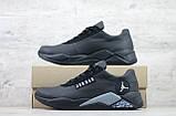 Мужские кожаные кроссовки Jordan (Реплика) (Код: JD чер  ) ►Размеры [40,41,42,43,44,45], фото 6