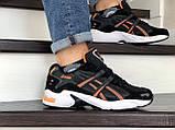 Мужские кроссовки Asics черно белые \ оранжевые, в наличии: 41,44, 45, 46, фото 2