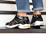 Мужские кроссовки Asics черно белые \ оранжевые, в наличии: 41,44, 45, 46, фото 4