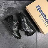 Мужские кроссовки Reebok Classic черные, фото 7