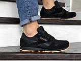 Мужские кроссовки Reebok Classic черные с оранжевым, фото 2