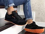 Мужские кроссовки Reebok Classic черные с оранжевым, фото 3