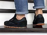 Мужские кроссовки Reebok Classic черные с оранжевым, фото 4