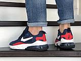Мужские кроссовки Nike Air Max 270 React синие с белым \ красные, фото 3